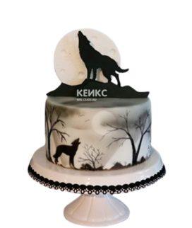 Торт волк и луна