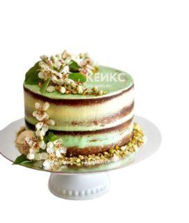 Торт в зеленом цвете