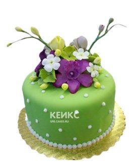 Торт зелёный