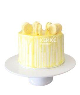Желтый торт с печеньками