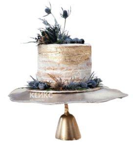 Необычный золотой торт