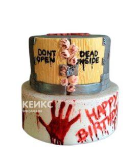 Торт в стиле зомби с кровавой рукой