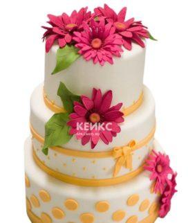 Торт герберы 3