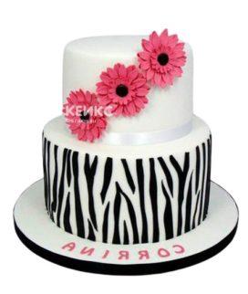 Торт герберы 4
