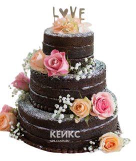 Торт Летний свадебный 11