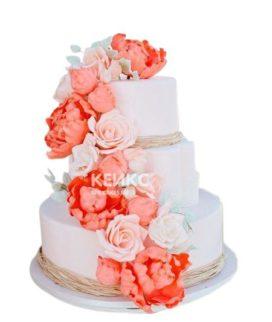 Торт Летний свадебный 4