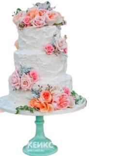 Торт Летний свадебный 7
