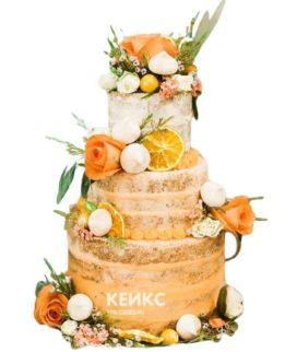 Торт Осенний свадебный 5