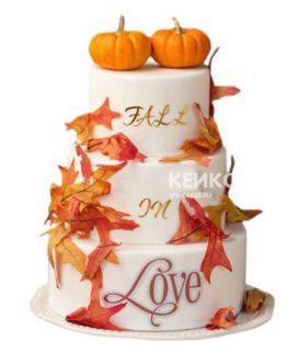 Торт Осенний свадебный 7