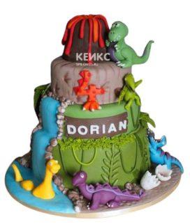 Торт Динозавр 9