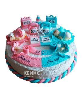 Торт для двойняшек 15