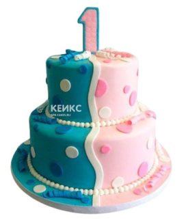 Торт для двойняшек 19
