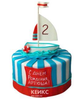 Торт Кораблик 9
