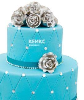 Торт на бирюзовую свадьбу 2