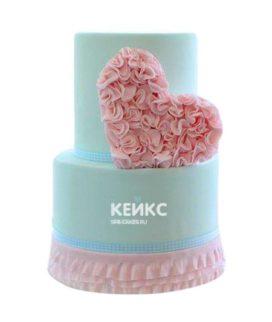 Торт на бирюзовую свадьбу 3