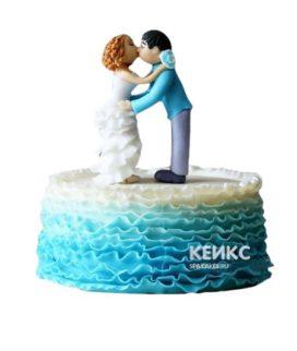 Торт на бирюзовую свадьбу 4