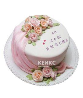 Торт на бриллиантовую свадьбу