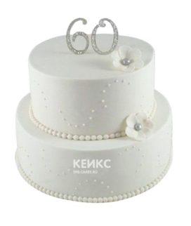Торт на бриллиантовую свадьбу 3