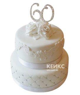 Торт на бриллиантовую свадьбу 4
