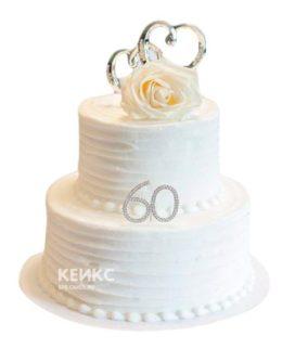 Торт на бриллиантовую свадьбу 5
