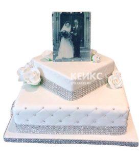 Торт на бриллиантовую свадьбу 6
