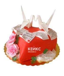 Торт на бумажную свадьбу 3
