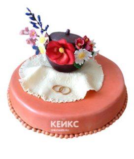 Торт на чугунную свадьбу 1