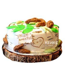 Торт на деревянную свадьбу 1