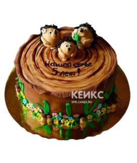 Торт на деревянную свадьбу 10