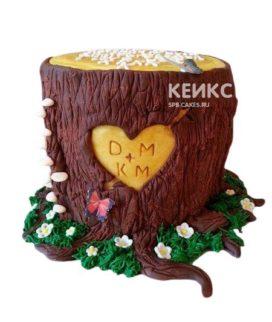 Торт на деревянную свадьбу 2