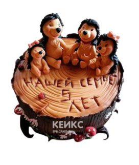 Торт на деревянную свадьбу