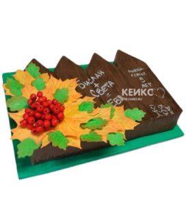 Торт на деревянную свадьбу 3