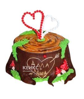 Торт на деревянную свадьбу 4