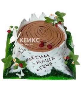 Торт на деревянную свадьбу 6