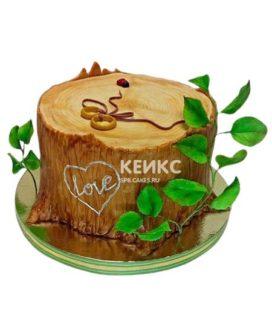 Торт на деревянную свадьбу 7