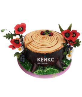 Торт на деревянную свадьбу 8