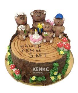 Торт на деревянную свадьбу 9