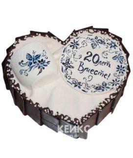 Торт на фарфоровую свадьбу 2