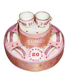 Торт на фарфоровую свадьбу 5