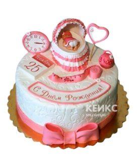 Торт на годик девочке 21