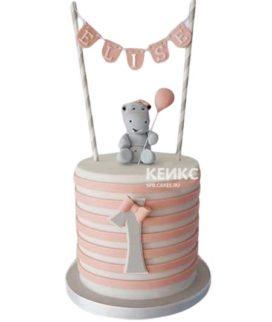 Торт на годик девочке 23