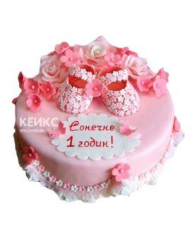 Торт на годик девочке 25