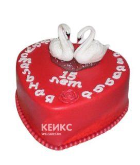 Торт на хрустальную свадьбу 1