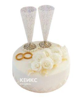 Торт на хрустальную свадьбу 2