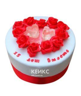 Торт на хрустальную свадьбу 5