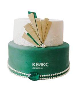 Торт на изумрудную свадьбу 1