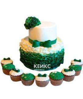 Торт на изумрудную свадьбу 2