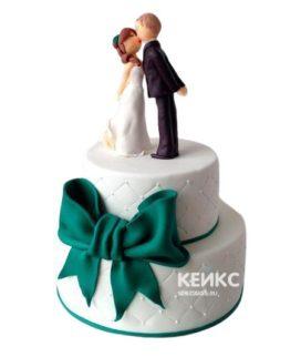 Торт на изумрудную свадьбу 3