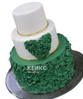 Торт на изумрудную свадьбу 4