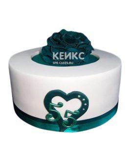 Торт на изумрудную свадьбу 5